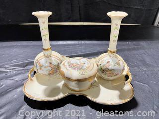 Ardalt Lenwile Porcelain Vanity Collection (lot of 4)