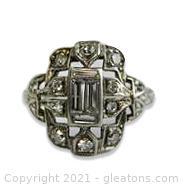Beautiful Vintage Diamond and Platinum Ring
