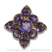 Pretty Amethyst Ring in 10kt Yellow Gold