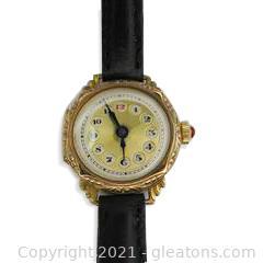 Vintage Manual Ladies Gold Wristwatch