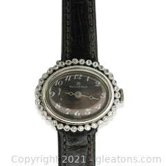 Stunning Vintage Ladies Bucherer Watch with Diamond Bezel