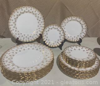 Spode Fleur De Lis Gold Plating For Eight
