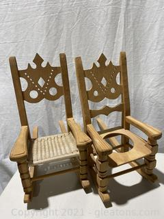 Hand Crafted Doll Rocking Chairs