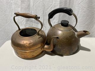 2 beautiful Copper Teapots