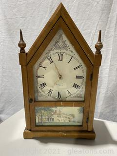 Vintage Westinghouse Tabletop Clock with Scene