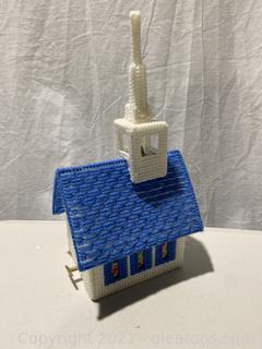 Needlepoint Church Music Box