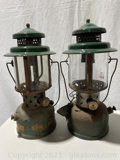 Vintage Coleman Green Lanterns