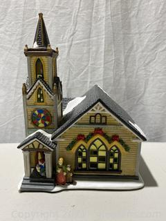 """Hoferts"" Christmas Fiber Optic Toy Shop"