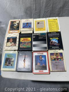 Collection of 8 - Track Stereo Tapes