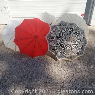 Unique Umbrellas From the Past- Set of 5