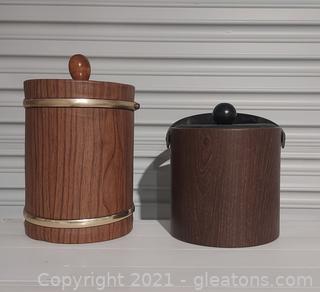 Vintage Wood Look Ice Buckets (2)