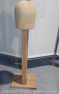 Wooden Hat/Wig Display Stand