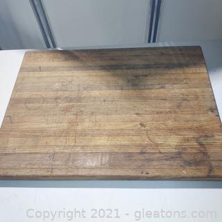 Butcher Block Tabletop Cutting Board