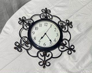 Black Wrought Iron Wall Clock