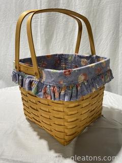 Longaberger 1998 Grandma Bonnie's Two Pie Basket