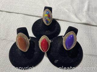 Set of Beautiful Vintage Rings