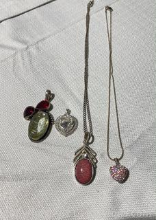 Set of Charming Silver Jewelry