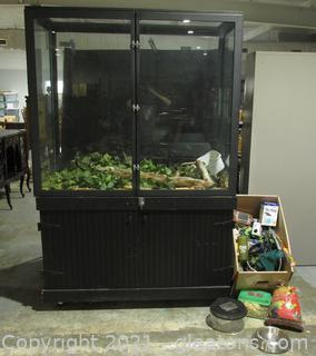 Custom Snake Cage + Products and Supplies