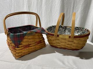 Set of 2 Christmas Collection Longaberger Baskets
