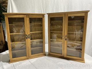 2 Small Display Cases