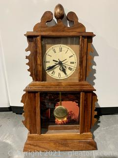 Wooden Carved Timeless Mantle Clock