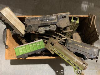 Antique Train Cars and Track