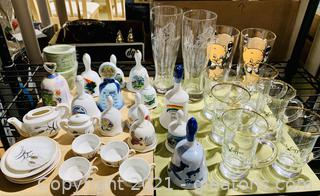 Collection of Bells, Tea & Spirit Glasses