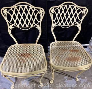 Mid Century Wrought Iron Patio Chairs