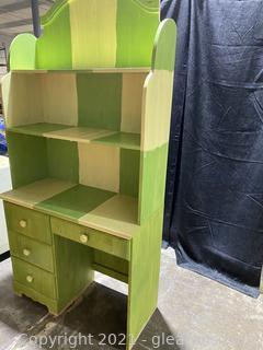 Creative Desk with Shelves