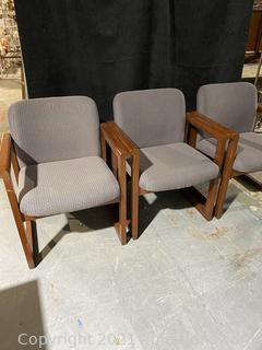 Three Basic New Castle Fabric Great Chairs