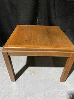 Straight Line Lane Mid Century Solid End Table