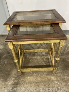 Nesting Tables with Glass