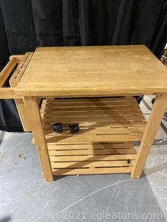 Useful Thaweesuk Wooden Kitchen Trolley Cart
