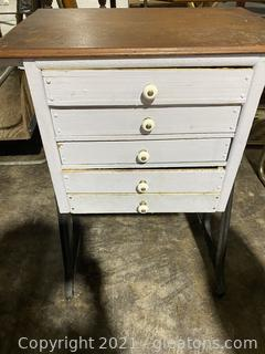 Old Rustic 5 Drawer Cabinet