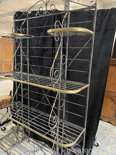 Pretty French Bakers Rack