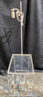 Pretty Vintage Floor Lamp with Glass Table
