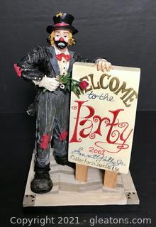 """Emmett Kelly Jr. Figurine by Flambro """"Come One Come All to the Hobo Ball"""" #9817"""