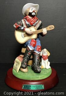 """Emmett Kelly Jr. Figurine by Flambro """"The Singer"""" #9640"""