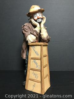 """Emmett Kelly Jr. Limited Edition Figurine by Flambro """"Why Me"""" #9710"""
