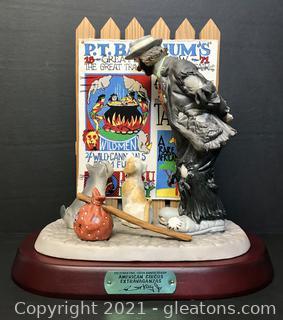 "Emmett Kelly Jr. Limited Edition Figurine by Flambro ""American Circus Extravaganzas"" #9759"