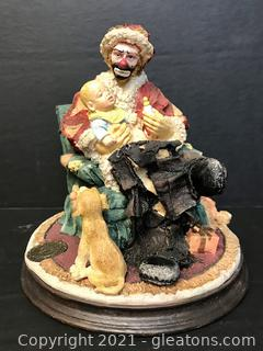 """Emmett Kelly Jr. Figurine by Flambro """"Baby's First Christmas"""" #9255"""