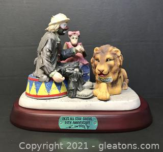 """Emmett Kelly Jr. Limited Edition Figurine by Flambro """"All Star Circus"""" #9751"""