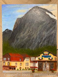 "A.Von Heister ""Grindelwald"" Acrylic on Canvas"