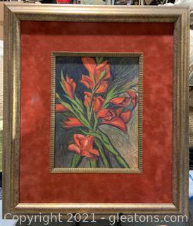 Signed and Framed Floral Still Life