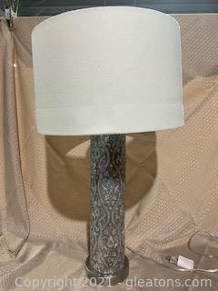 Tall Silver Table Lamp