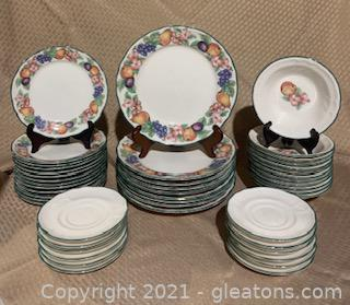 "Noritake Epoch ""Market Day"" Dishes"