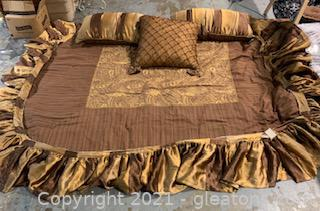 King Size Easlern Accents Cocoa Bedding Set