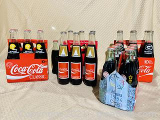 Collection of Championship Coca-Cola Bottles