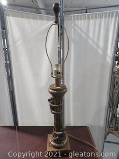 1970's Large Monkey Candlestick Lamp