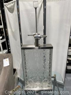 Etched Glass Rectangular Lamp